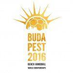 logo MŚ w plażowej piłce ręcznej Budapeszt 2016