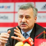 14.01.2016 WROCLAW PILKA RECZNA KONFERENCJA PRZED ROZPOCZECIEM EHF EURO 2016 HANDBALL PRESS CONFERENCE BEFORE EHF EURO 2016 N/Z BOGDAN SOJKIN FOT PAWEL ANDRACHIEWICZ / PRESSFOCUS