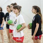 Trening reprezentacji juniorek w plazowej pilce recznej