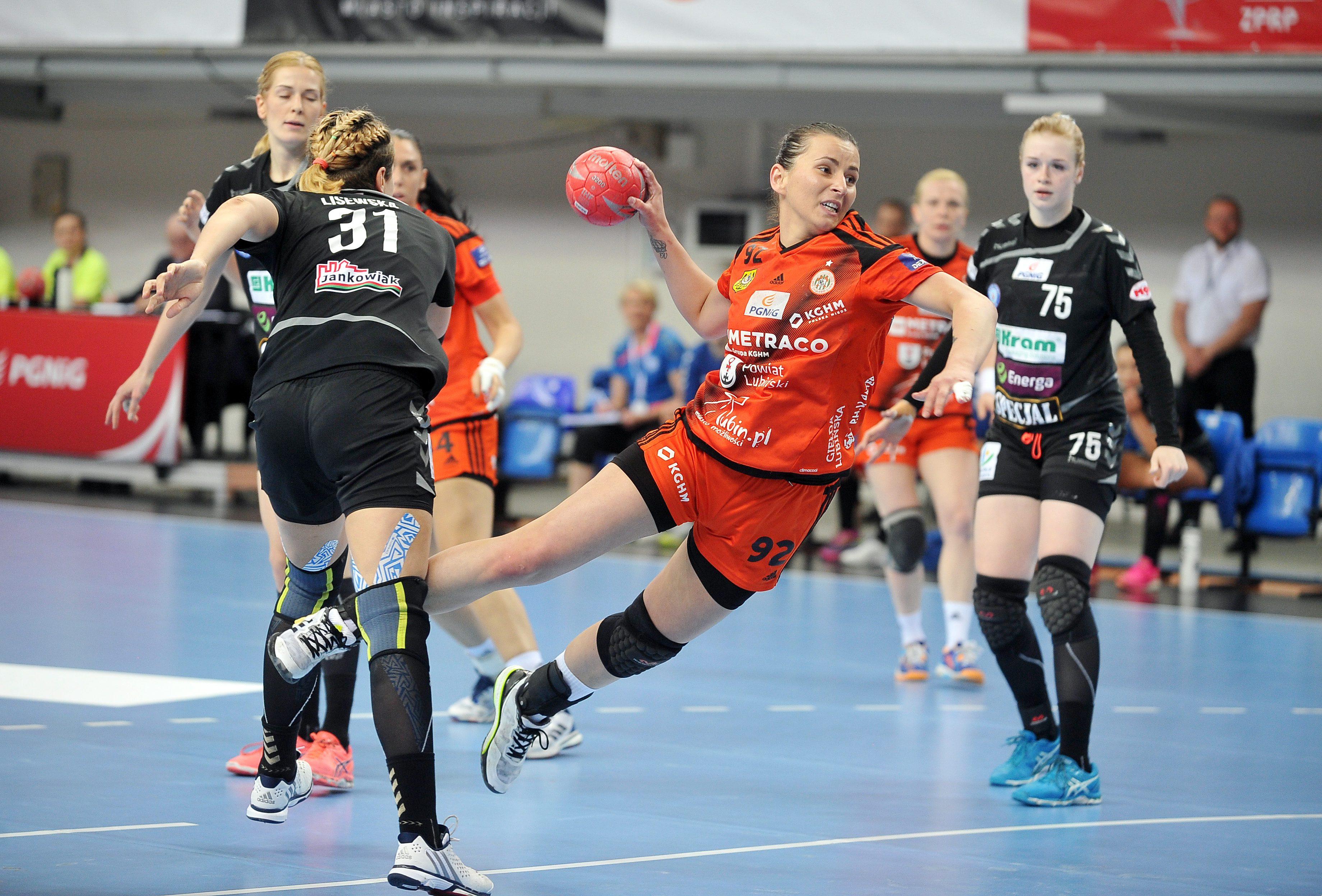Fot. Norbert Barczyk / PressFocus 2017.05.20 Lublin Handball Polish Cup FInal women Season 2016/2017 Metraco Zaglebie Lubin - KRAM Start Elblag Jovana Milojevic Credit: Norbert Barczyk / PressFocus