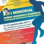 Plakat I Memoriału Bożeny Markiewicz (Gniedziuk)