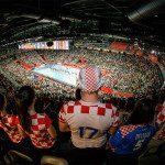 Supporters of team Croatia during the EHF EURO Croatia 2018 - Main round -  Group 1 - Croatia vs Norway in Arena Zagreb, Zagreb, Croatia, 20.1.2018, Mandatory Credit © HRS / Nebojsa Tejic