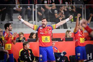 Gedeon Guardiola during the EHF EURO Croatia 2018 - Main round - Group 2 - Germany vs Spain in Varazdin Arena, Varazdin, Croatia, 24.1.2018, Mandatory Credit © HRS / Nebojsa Tejic