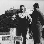 dr Wojciech Solarski (z lewej) w towarzystwie trenera Janusza Czerwińskiego (Monte Cassino, 1969 r.)