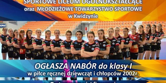 Nabór do klasy o profilu piłki ręcznej w Kwidzynie