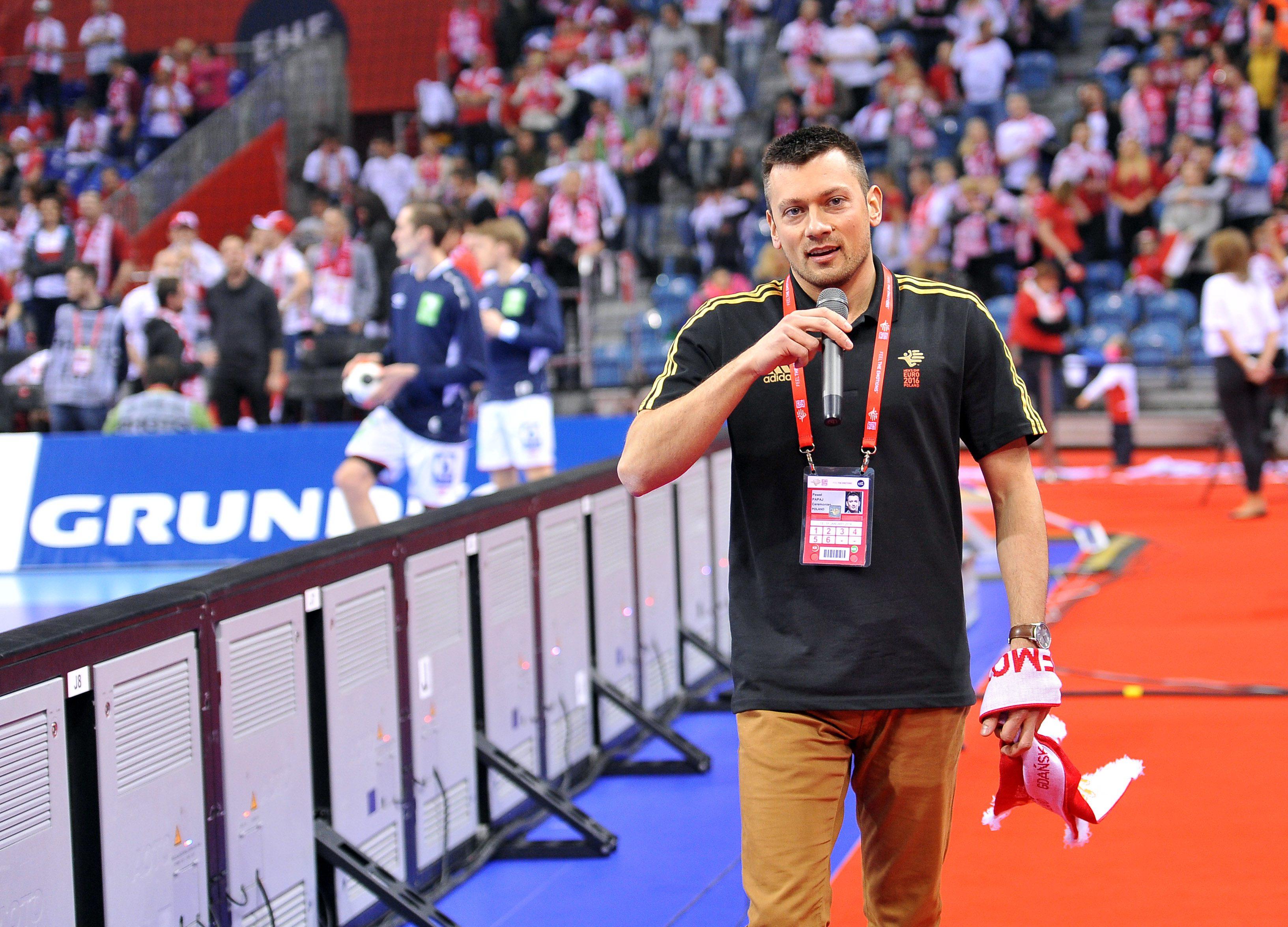 2016.01.23 Krakow Pilka reczna EHF Euro 2016 Mistrzostwa Europy w pilce recznej mezczyzn Runda Glowna Grupa 1 Polska - Norwegia N/Z Pawel Papaj Foto Norbert Barczyk / Pressfocus 2016.01.23 Krakow Handball EHF Mens Euro Poland 2016 Main Round Group 1 Poland - Norway N/Z Pawel Papaj Foto Norbert Barczyk / Pressfocus