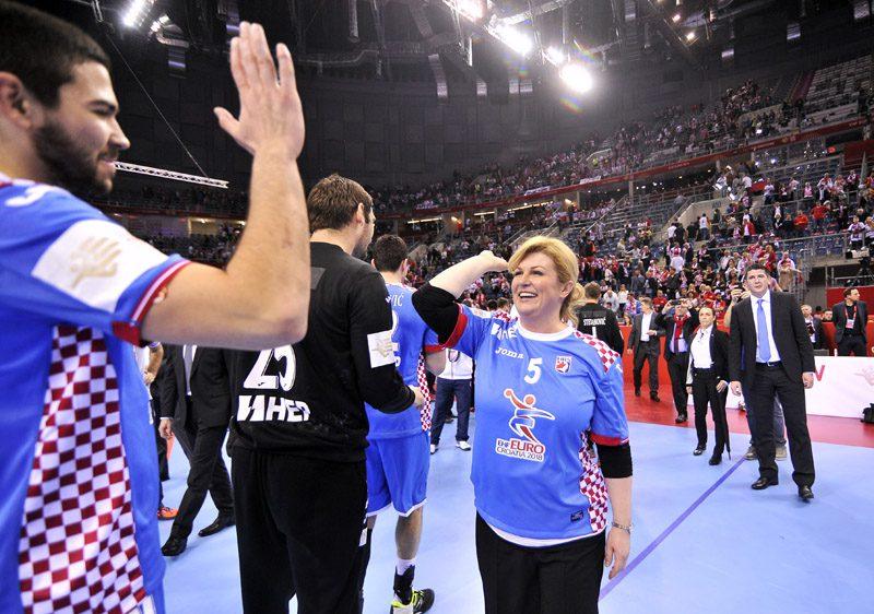 2016.01.27 Krakow Pilka reczna EHF Euro 2016 Mistrzostwa Europy w pilce recznej mezczyzn Runda Glowna Grupa 1 Polska - Chorwacja N/Z PREZYDENT CHORWACJI KOLINDA GRABAR KITAROVIC Foto Norbert Barczyk / Pressfocus 2016.01.27 Krakow Handball EHF Mens Euro Poland 2016 Main Round Group 1 Poland - Croatia N/Z PREZYDENT CHORWACJI KOLINDA GRABAR KITAROVIC Foto Norbert Barczyk / Pressfocus