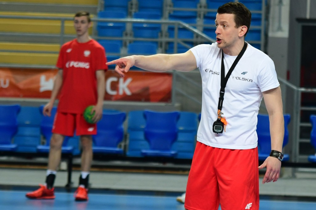 2017.05.01 Plock Pilka reczna mezczyzn Trening Polskiej Kadry B N/z Patryk Rombel Foto Martyna Szydlowska / PressFocus 2017.05.01 Plock Men handball Training of Poland's Team B Patryk Rombel Credit: Martyna Szydlowska / PressFocus