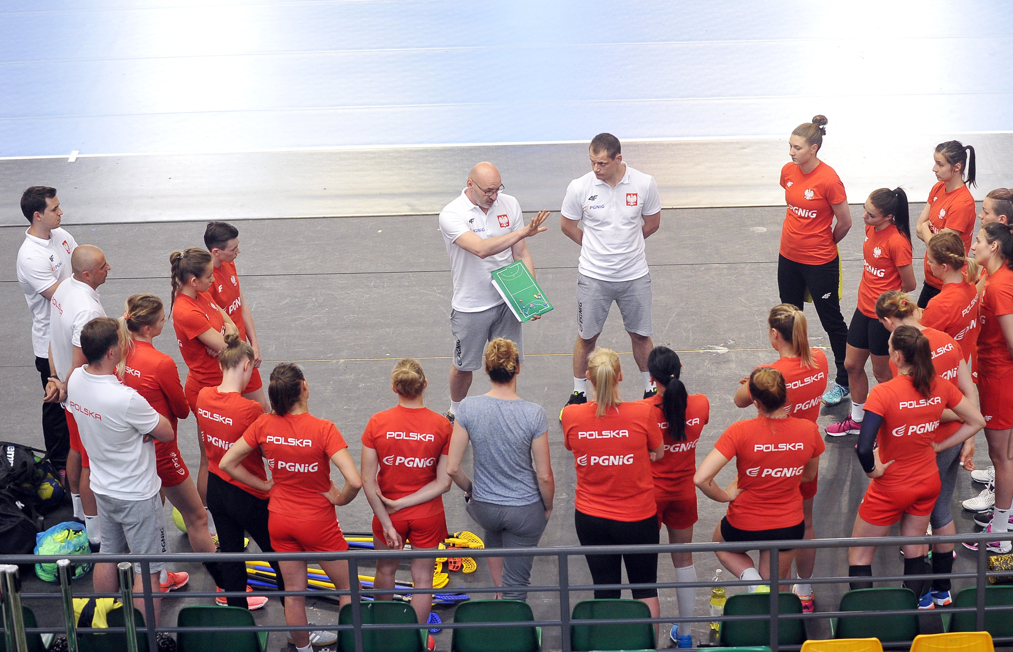 2017.05.29 Kielce Pilka Reczna Handball Trening reprezentacji kobiet Kadra A N/z Leszek Krowicki Adrian Struzik Foto Norbert Barczyk / PressFocus