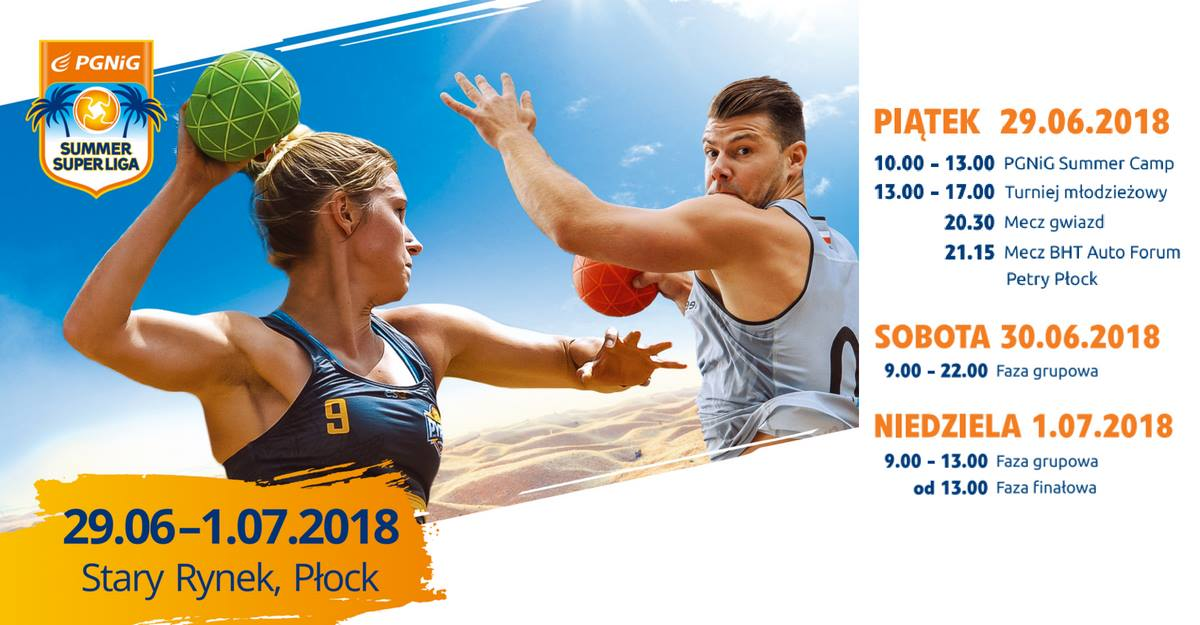 PGNiG SUMMER SUPERLIGA PLOCK 2018 plakat