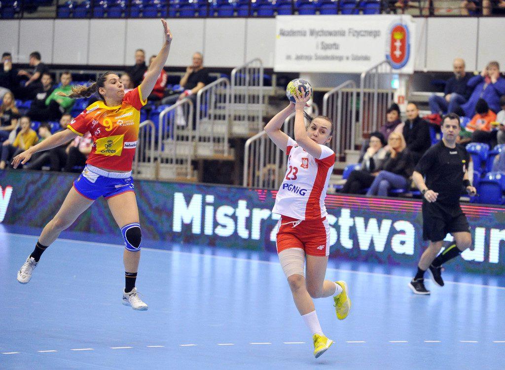 2019.03.23 Gdansk Pilka reczna Baltic Handball Cup 2019 Polska B - Hiszpania B N/z Oktawia Plominska Foto Norbert Barczyk / PressFocus