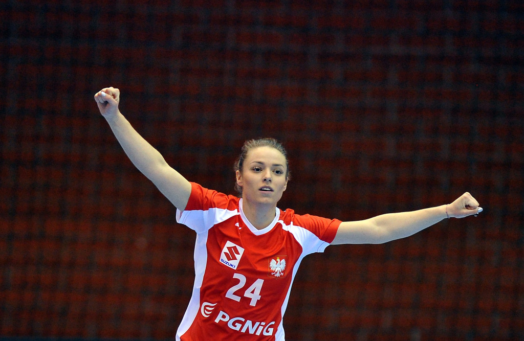2019.03.24 Gdansk Pilka reczna Baltic Handball Cup 2019 Polska B - Rumunia B N/z Dagmara Nocun radosc Foto Norbert Barczyk / PressFocus
