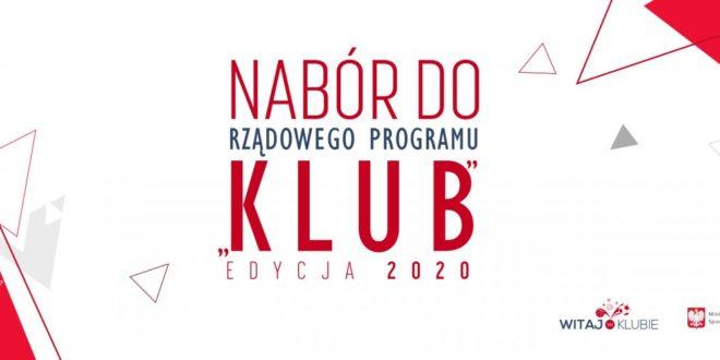 Program Klub 2020 – ruszył nabór wniosków