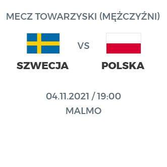 Szwecja – Polska 4 listopada 19:00 – Malmo